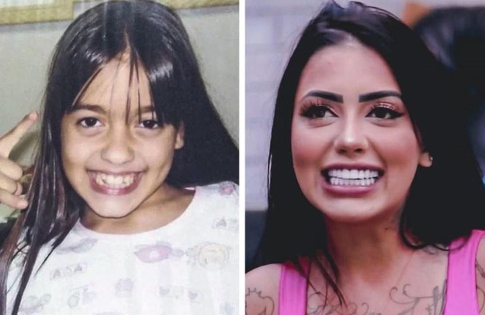 Mc Mirella antes e depois de A Fazenda 12.