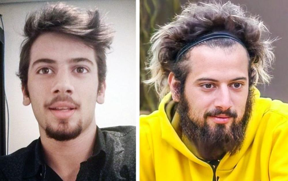 Lucas Strabko antes e depois de A Fazenda 12.