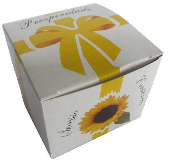 Mini presentes Mini Kit presente eco Prosperidade com semente de girassol