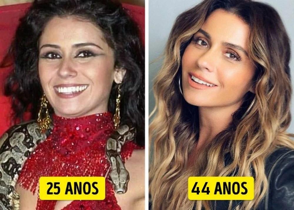 Giovanna Antonelli mais nova e mais velha.