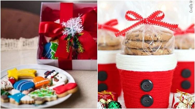 duas ideias de biscoitos natalinos para presentes de agradecimento