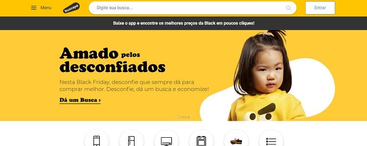 captura de tela do Buscapé, site para economizar na Black Friday
