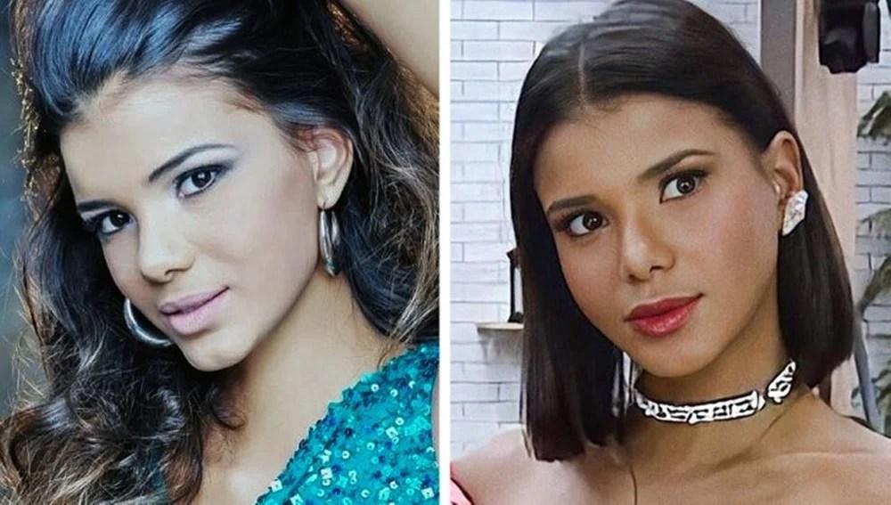 Jakelyne Oliveira antes e depois de A Fazenda 12.