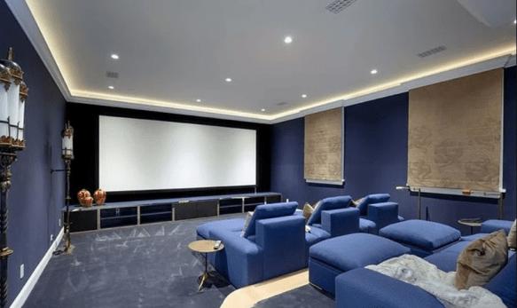 cinema na casa de justin bieber