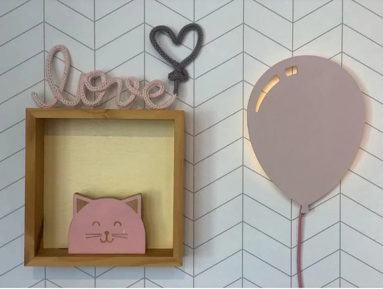 Balão iluminado