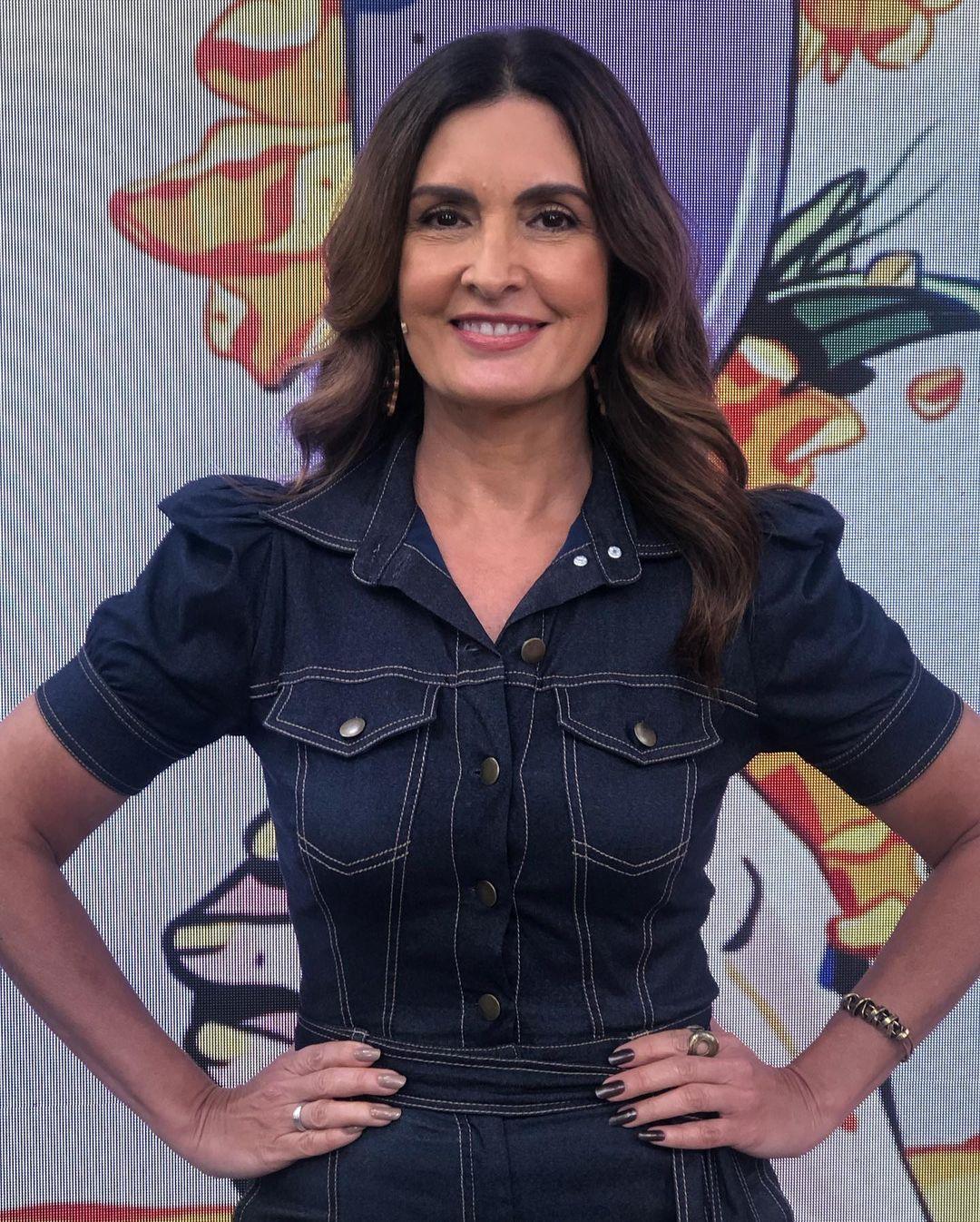 Apresentadora Fátima Bernardes.