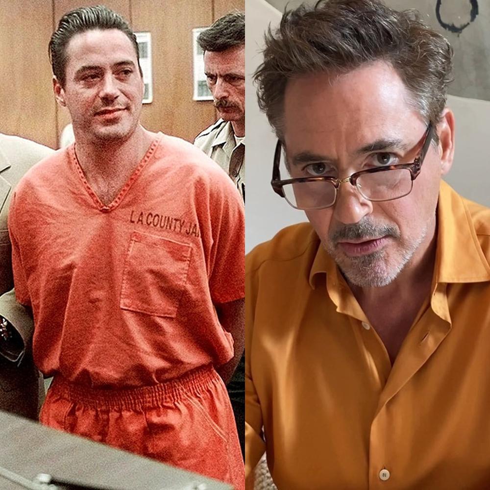 Antes e depois das drogas: Robert Downey Jr.