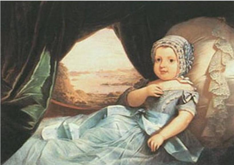 Pintura de Claude Joseph Barandier de Dom Afonso, Príncipe Imperial do Brasil, de 1845-1847.