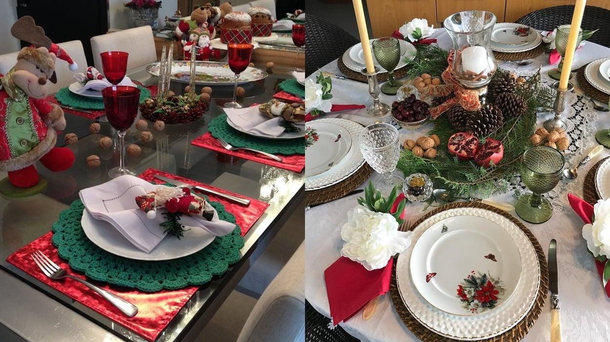 Dicas de decorações de mesa natalina.