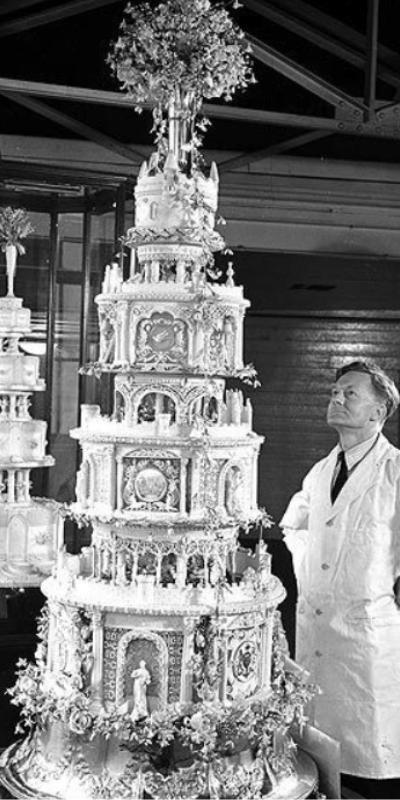 bolo de casamento George VI e Elizabeth Bowes-Lyon (1923)