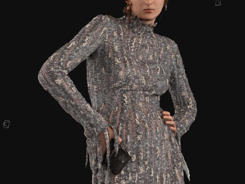 Modelo usa vestido paetê destroyed