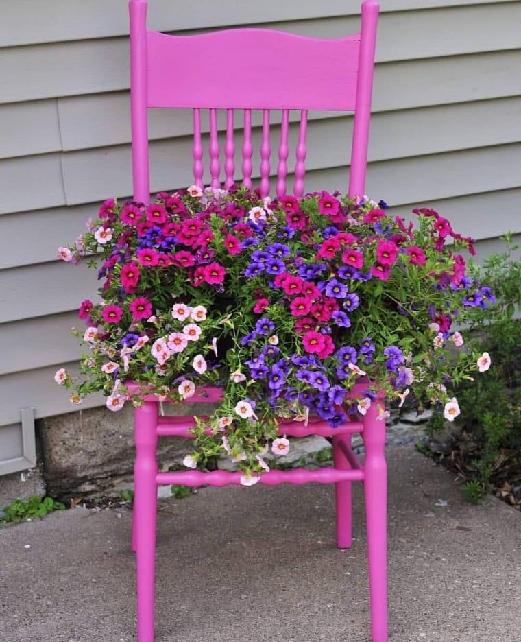 Cadeira com flores