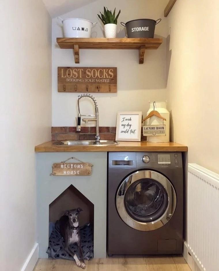 Lavanderia e quarto de cachorro