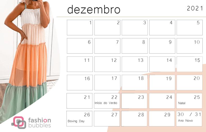 Calendário Fashionista 2021 - Dezembro