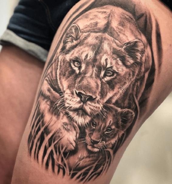 tatuagem de leoa
