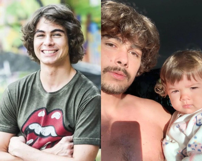 Rafael Vitti em Malhação e atualmente.