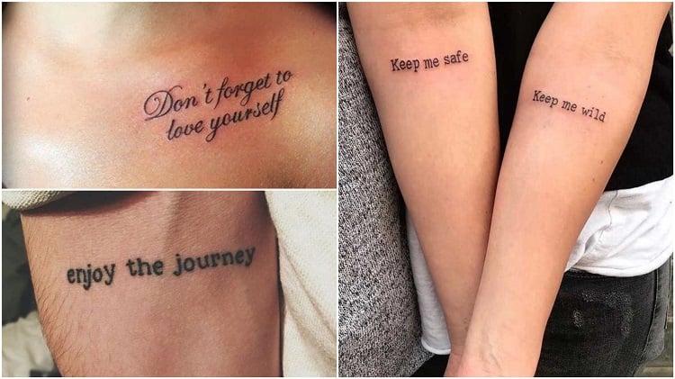 três frases em inglês para tatuar