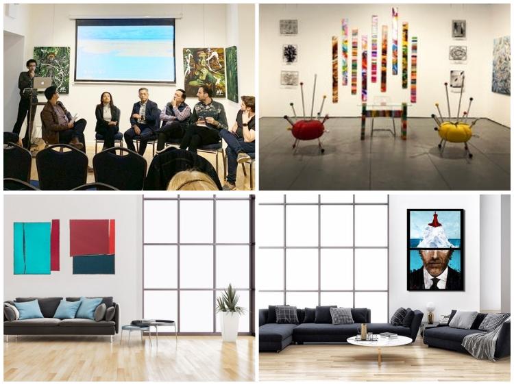 atividades em galeria de arte moderna e contemporânea