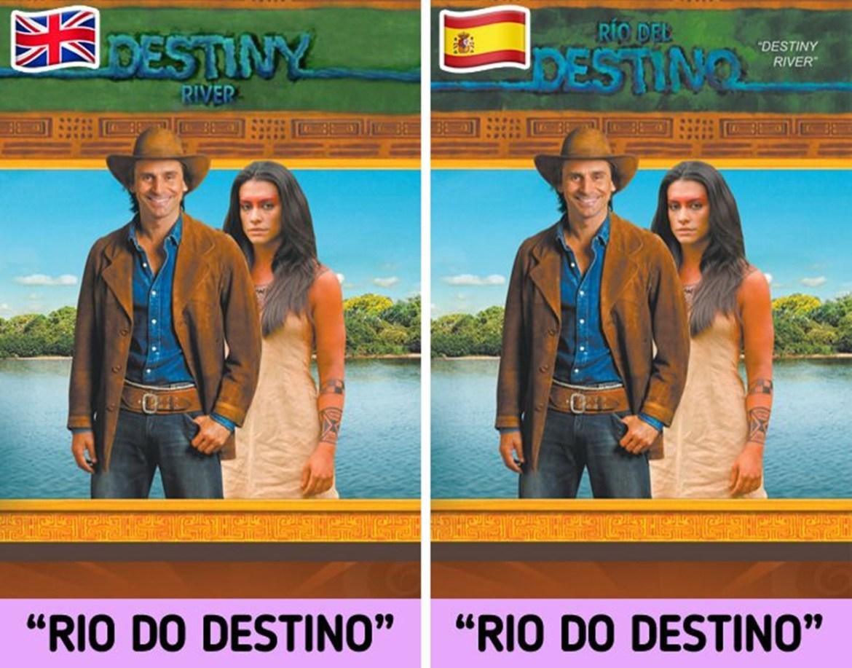 Nome em outros países, novela brasileira Araguaia.