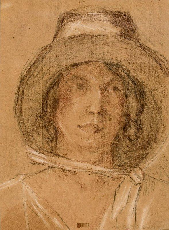 Retrato de Tarsila do Amaral por Anita Malfatti.