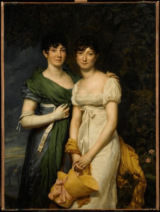 As srtas. Mollien, 1811, Georges Rouget, Museu do Louvre, Paris