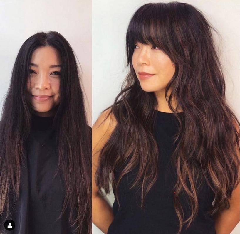 Tendências em corte de cabelos longos para 2021