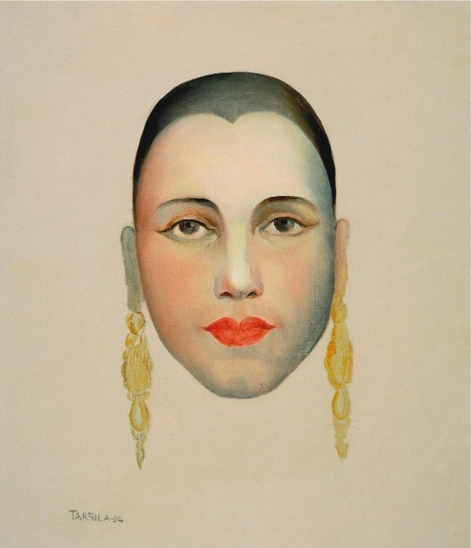 Autorretrato de Tarsila do Amaral, 1924.