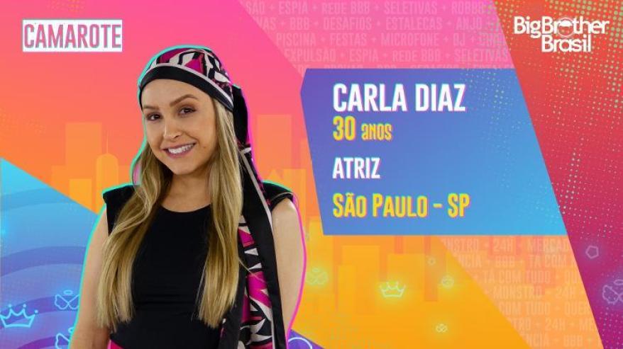 Carla Diaz é do time Camarote