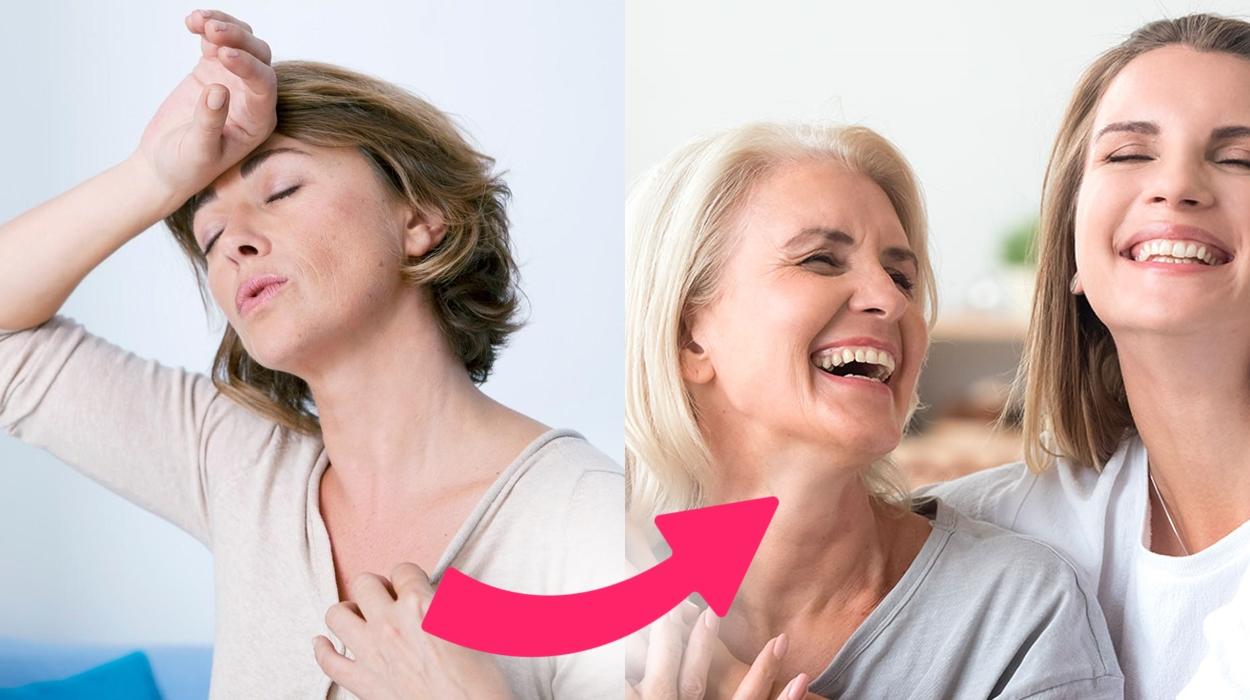 Sintomas da menopausa.