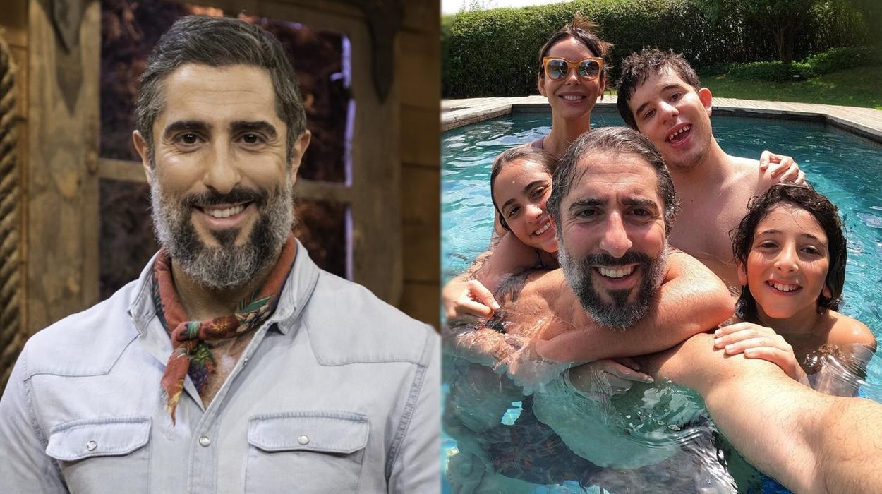 Marcos Mion e família.