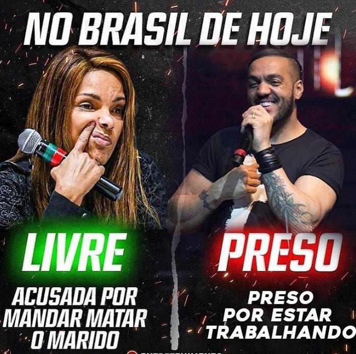 Foto compartilhada com Ludmilla em defesa do cantor Belo.