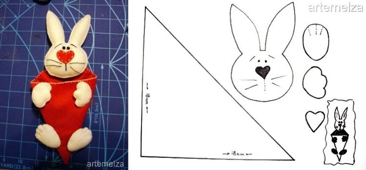 molde de coelho para lembrancinha de páscoa