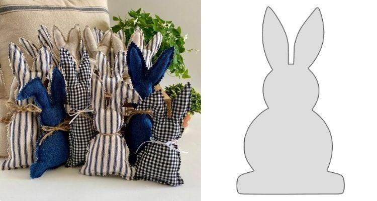 coelho de tecido fácil de fazer