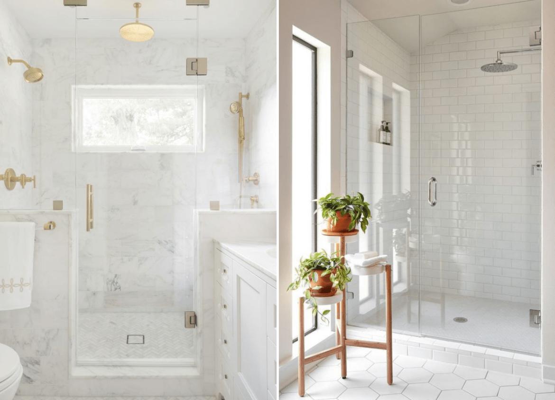 Cores na decoração: banheiros brancos