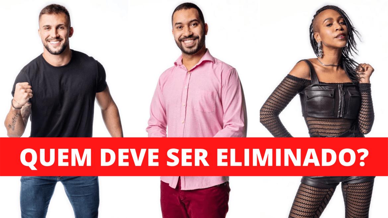 Arthur, Gilberto e Karol Conká estão no paredão. Quem deve ser eliminado?
