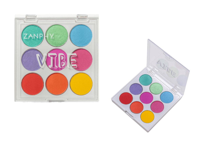 Paleta de sombras Zanphy VIBE para fazer sobrancelha colorida
