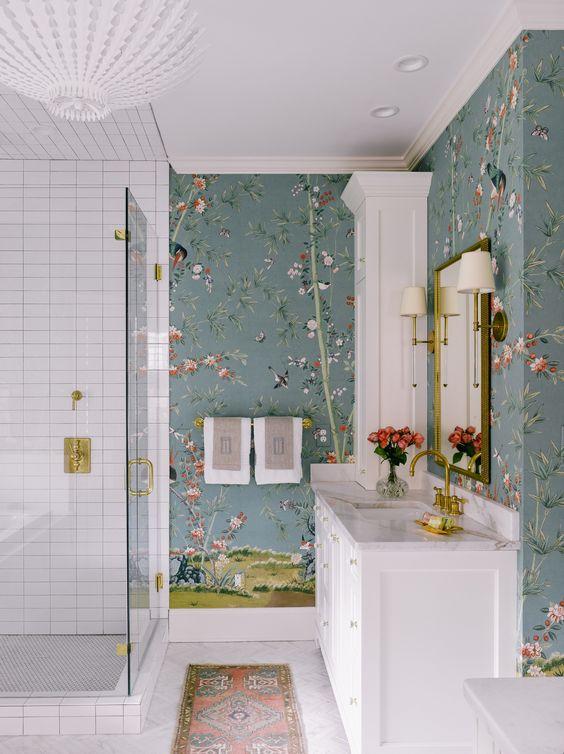 Anos 80 na decoração do banheiro