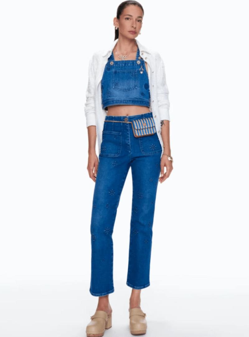 Calça e cropped jeans da Chanel