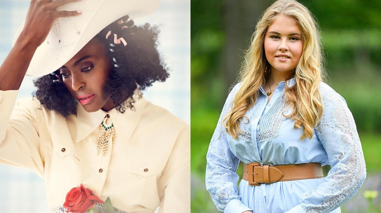 Princesas Amália da Holanda e Princesa Keisha da Nigéria.
