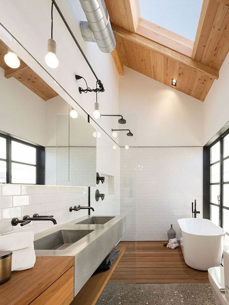 Banheiro duplo japandi