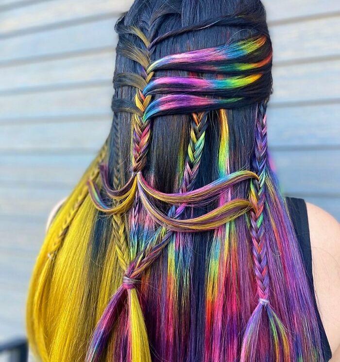 trança arco íris
