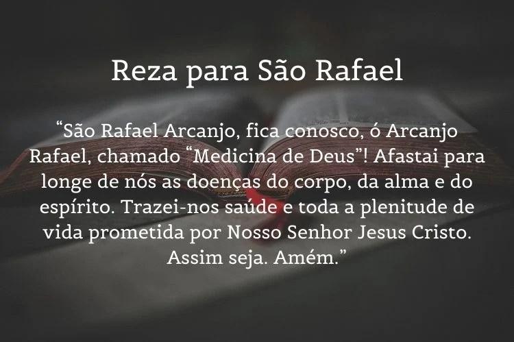 orações para saúde de São Rafael