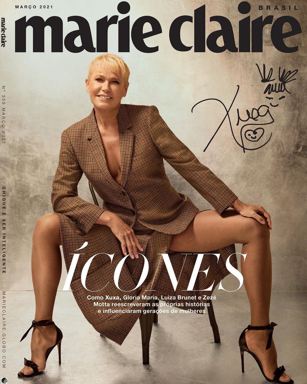 Xuxa na capa da revista Maria Claire - Março 2021.