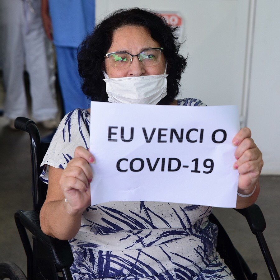 Mãe de Yudi é curada da Covid-19.