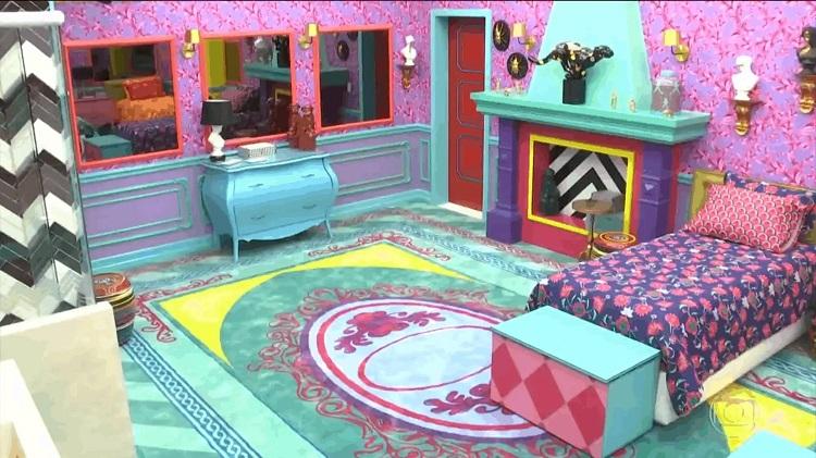 quarto colorido do Big Brother Brasil 21