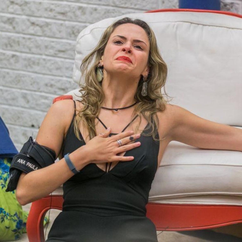 Ana Paula no Paredão Falso do BBB 16.