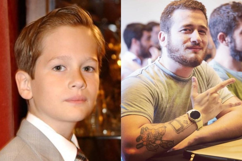 Guilherme Vieira antes e depois.