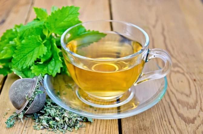 Chá de ervas de gengibre e canela