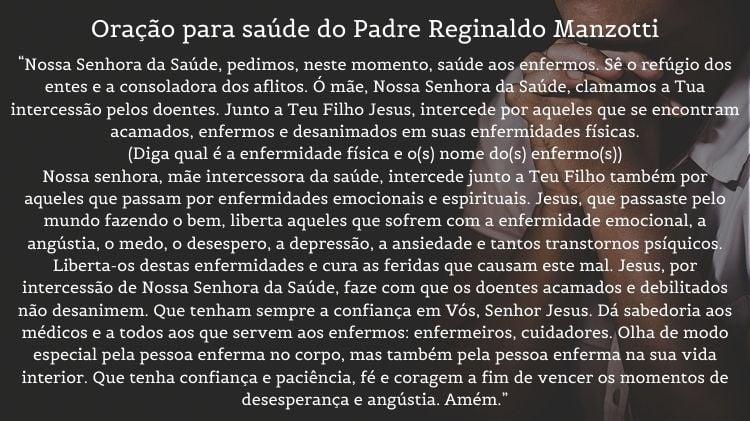 orações para saúde do Padre Reginaldo Manzotti