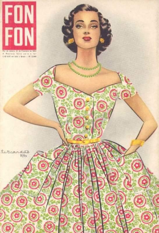Capa de Gil Brandão da Revista Fon Fon, de 1953.